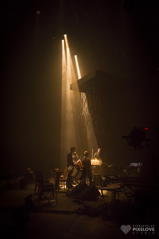 FORÊT and Quatuor Molinari performed at Usine C as part of Montreal en Lumiere on February 21, 2014.