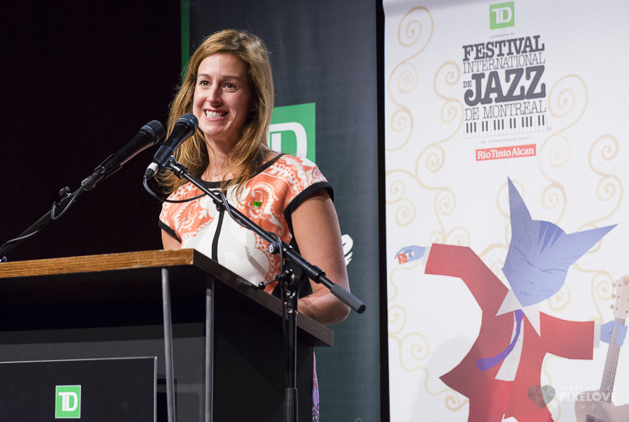 Press conference Festival International de Jazz de Montreal 2014 at Salle Wilfrid-Pelletier on April 23rd 2014.