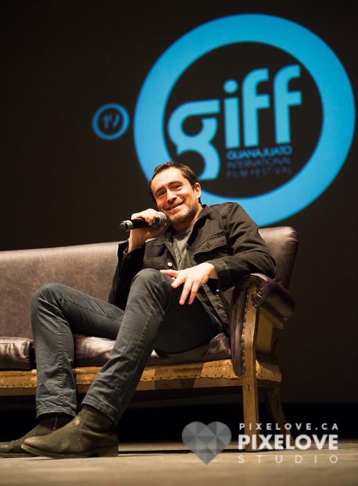 Conferencia de Demian Bichir durante el Guanajuato International Film Festival 2016 en San Miguel de Allende y Guanajuato Capital, Mexico.