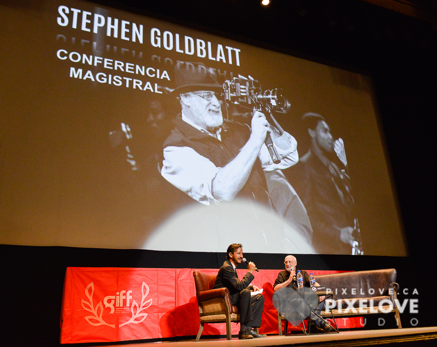 Conferencia de Stephen Goldblatt en el Guanajuato International Film Festival 2016 en San Miguel de Allende y Guanajuato Capital, Mexico.