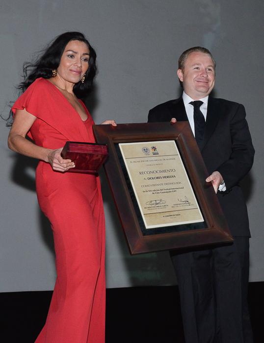 Homenaje a Dolores Heredia en el Guanajuato International Film Festival 2016 en San Miguel de Allende y Guanajuato Capital, Mexico.