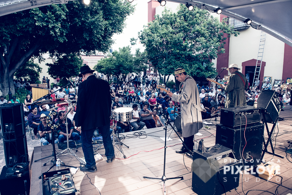 3er Encuentro Queretablues los dias 12, 13 y 14 de agosto 2016 en el CEART Queretaro y en Jardin del Arte. Conciertos de Claudio Irrera Dossi, Jr. Wily, Umbra Alba, Boca Negra Blues, Rhinoceros Bluesband, El Callejon del Blues, La Oca Banda de Blues, La R