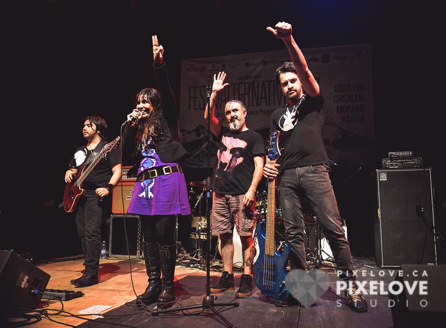 Festival Alter Nativo 2016 en el Museo de la Ciudad, Queretaro se presentaron Acasia, Delta Red, Crisalida y Moraine.