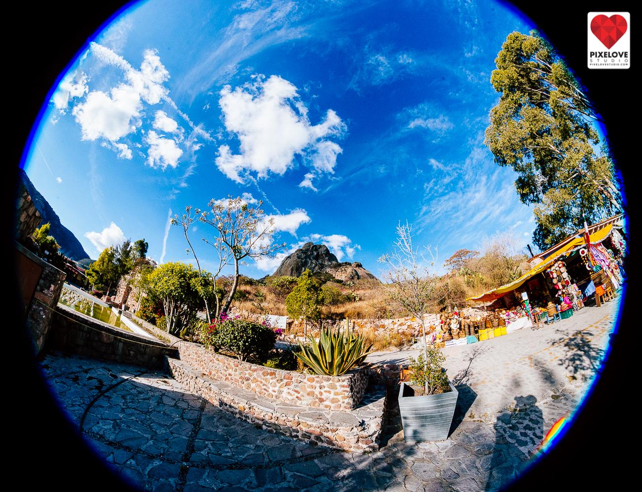 Subida a la Peña de Bernal, Queretaro, Mexico.